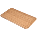 Bamboo table top front angled