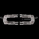 Hub clip lock forks front on