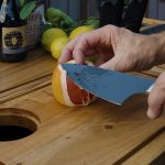 home collection knife slicing orange
